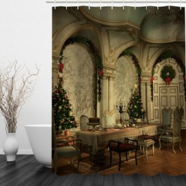 Gorgeous Room in Christmas Printing Bathroom 3D Shower Curtain