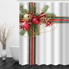 Christmas Gift Printing Waterproof Bathroom 3D Shower Curtain
