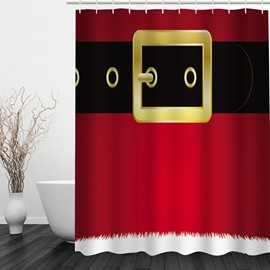 Chic Christmas Theme Printing Bathroom 3D Shower Curtain