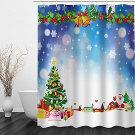 Dreamy Christmas Printing Bathroom 3D Shower Curtain