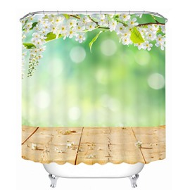 Graceful Spring Scenery 3D Printed Bathroom Waterproof Shower Curtain