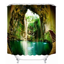 Wonderful Ikil Cenote Scenery 3D Printed Bathroom Waterproof Shower Curtain
