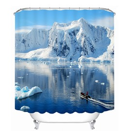 Magnificent Glacier in the Sunny Day 3D Printed Bathroom Waterproof Shower Curtain