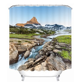 Graceful Nature Scenery 3D Printed Bathroom Waterproof Shower Curtain