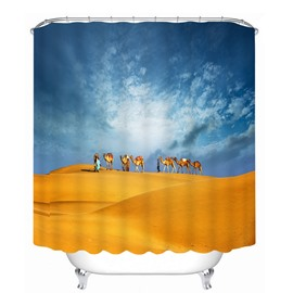 Travel in the Desert 3D Printed Bathroom Waterproof Shower Curtain