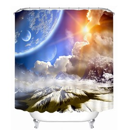 Spectacular Nature Scenery 3D Printed Bathroom Waterproof Shower Curtain