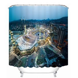 Bustling City Scenery 3D Printed Bathroom Waterproof Shower Curtain