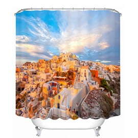 Amazing Scenery of Greece 3D Printed Bathroom Waterproof Shower Curtain