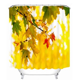 Attractive Leaf of Maple Tree 3D Printed Bathroom Waterproof Shower Curtain
