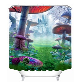 Fantastic Fairyland 3D Printed Bathroom Waterproof Shower Curtain