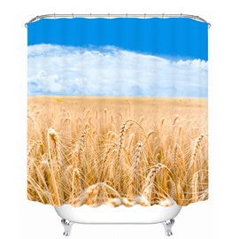 A Good Harvest of Wheat 3D Printed Bathroom Waterproof Shower Curtain