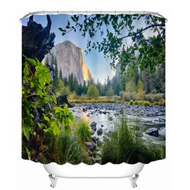 Beautiful Natural Landscape 3D Printed Bathroom Waterproof Shower Curtain