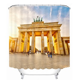 Famous Brandenburg Gate 3D Printed Bathroom Waterproof Shower Curtain