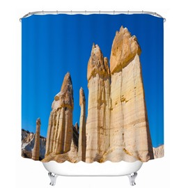 Blue Sky and Rock with Wind Erosion 3D Printed Bathroom Waterproof Shower Curtain