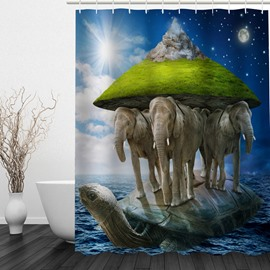 Fantastic Island 3D Printed Bathroom Waterproof Shower Curtain