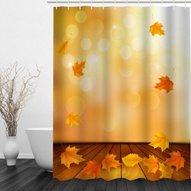 Fall Leaves 3D Printed Bathroom Waterproof Shower Curtain