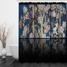 Watercolor Flower Tree 3D Printed Bathroom Waterproof Shower Curtain
