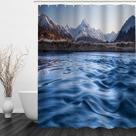 Microwave of the Sea 3D Printed Bathroom Waterproof Shower Curtain