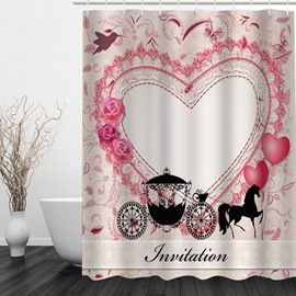 Romantic Cinderella's Carriage 3D Printed Bathroom Waterproof Shower Curtain
