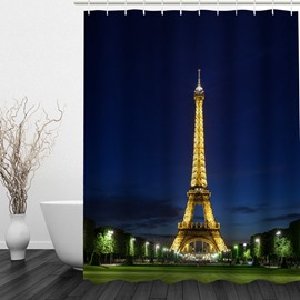 Wonderful Tower the Night 3D Printed Bathroom Waterproof Shower Curtain