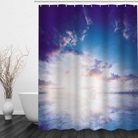 Beautiful Clouds in Sky 3D Printed Bathroom Waterproof Shower Curtain