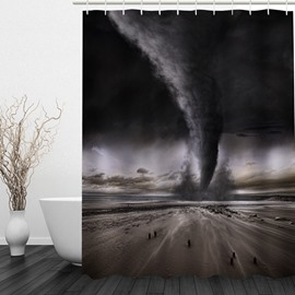 Amazing Tornado 3D Printed Bathroom Waterproof Shower Curtain