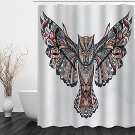 Designer Owl Spread Wings 3D Printed Bathroom Waterproof Shower Curtain