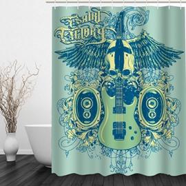 Cool Music 3D Printed Bathroom Waterproof Shower Curtain