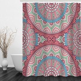 Cute Gear 3D Printed Bathroom Waterproof Shower Curtain