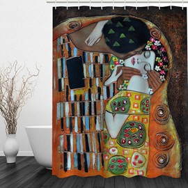 Abstract Art Lover 3D Printed Bathroom Waterproof Shower Curtain