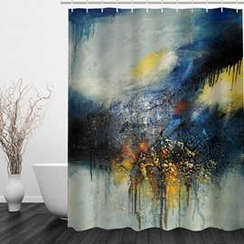 Abstract Art 3D Printed Bathroom Waterproof Shower Curtain