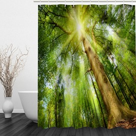 Tall Tree 3D Printed Bathroom Waterproof Shower Curtain