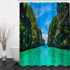 Brilliant Nature Scenery 3D Printed Bathroom Waterproof Shower Curtain