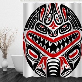 Designer Mask 3D Printed Bathroom Waterproof Shower Curtain