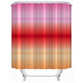 3D Gradient Warm Color Polyester Bathroom Shower Curtain