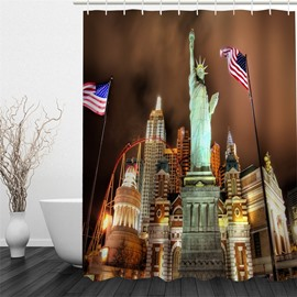 3D The Statue of Liberty Polyester Waterproof and Eco-friendly Shower Curtain