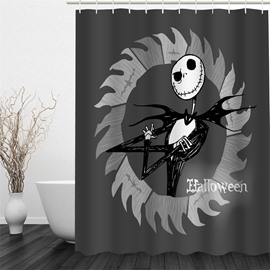 3D Halloween Pattern Polyester Waterproof and Eco-friendly Shower Curtain