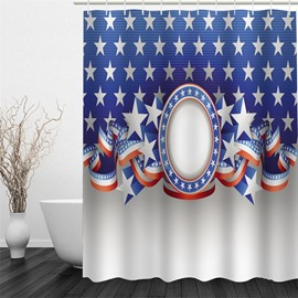 3D Five-Pointed Stars Polyester Waterproof and Eco-friendly Shower Curtain