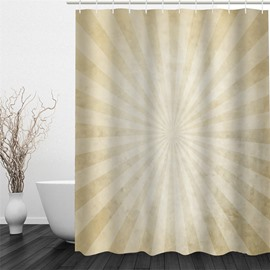 3D Beige Umbrella Pattern Polyester Waterproof and Eco-friendly Shower Curtain