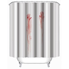 3D Bloody Arms Printed Polyester Waterproof Antibacterial and Eco-friendly Shower Curtain