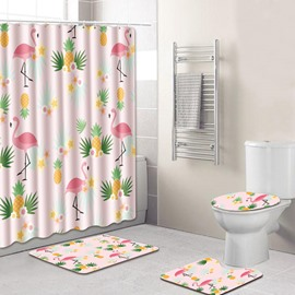 Four-Piece Set Eco-Friendly Feature PVC Material Animal Pattern Shower Curtains