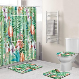 Animal Pattern Four-Piece Set PVC Material Eco-Friendly Feature Shower Curtains