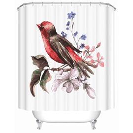 Birds&Trees Pattern Mildew Resistant Machine Washable Bathroom Shower Curtain