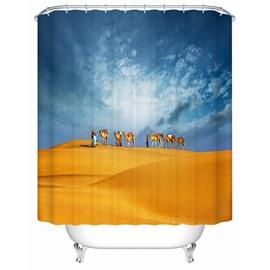 Sky&Desert Pattern Mildew&Moist Resistant Polyester Material Shower Curtain