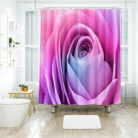 3D Beautiful Rose Printed Polyester Bathroom Shower Curtain