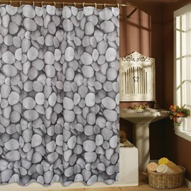 High Quality Modern Fashion Cobblestone Pattern Shower Curtain