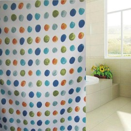 New Arrival Unique Colorful Dots Design Shower Curtain