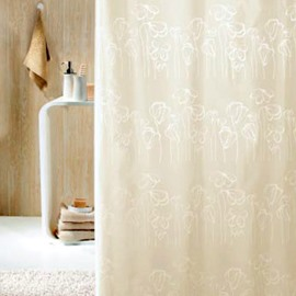 High Quality Fashion Flowers Printing Shower Curtain