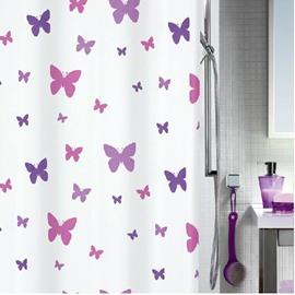 New Arrival Elegant Butterflies Printing Shower Curtain