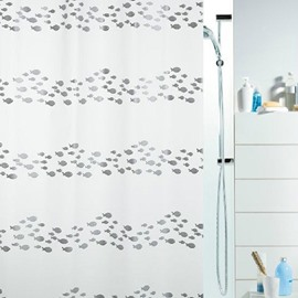 New Style Shoal of Fish Printing Shower Curtain